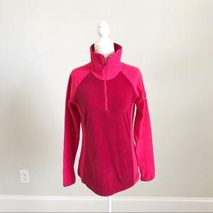 Columbia Pink Turtleneck Fleece Top